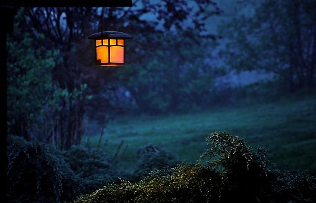 trädgården lampor